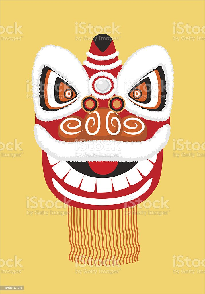 Chinese Traditional Lion Dance Costume royalty-free stock vector art