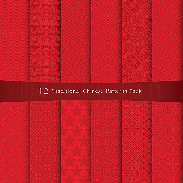 chinesische traditionelle muster - asien stock-grafiken, -clipart, -cartoons und -symbole