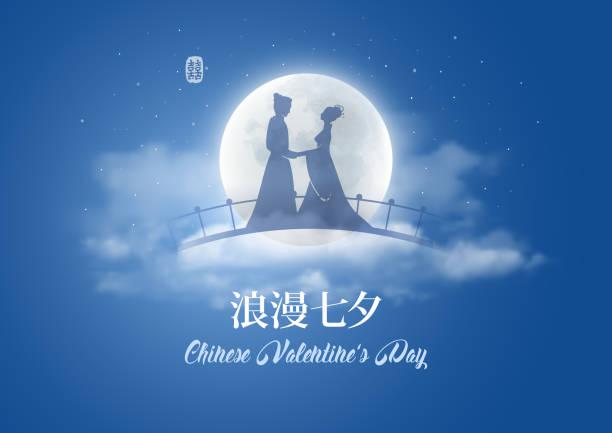 中国のバレンタインの日 - 七夕点のイラスト素材/クリップアート素材/マンガ素材/アイコン素材