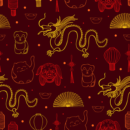 Chinese  vector seamless pattern.