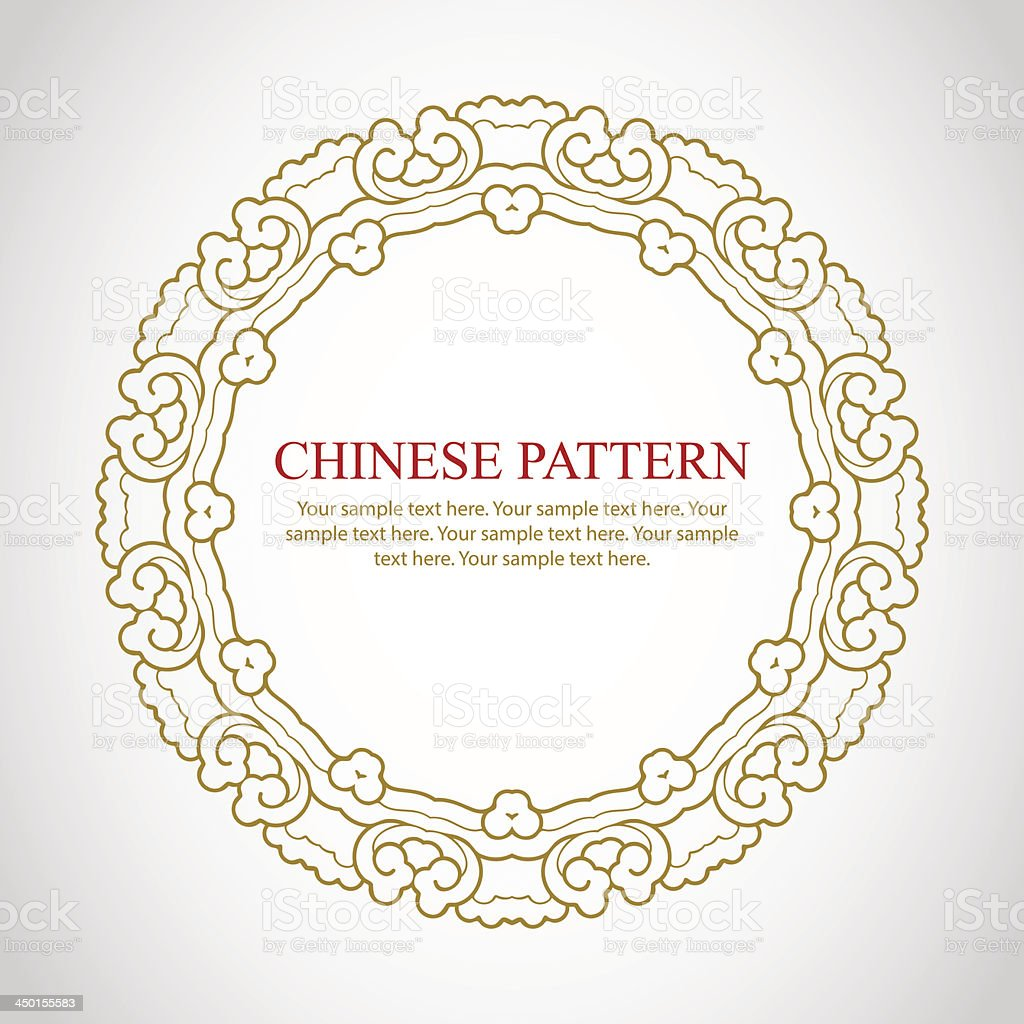 Chinese vintage frame vector art illustration