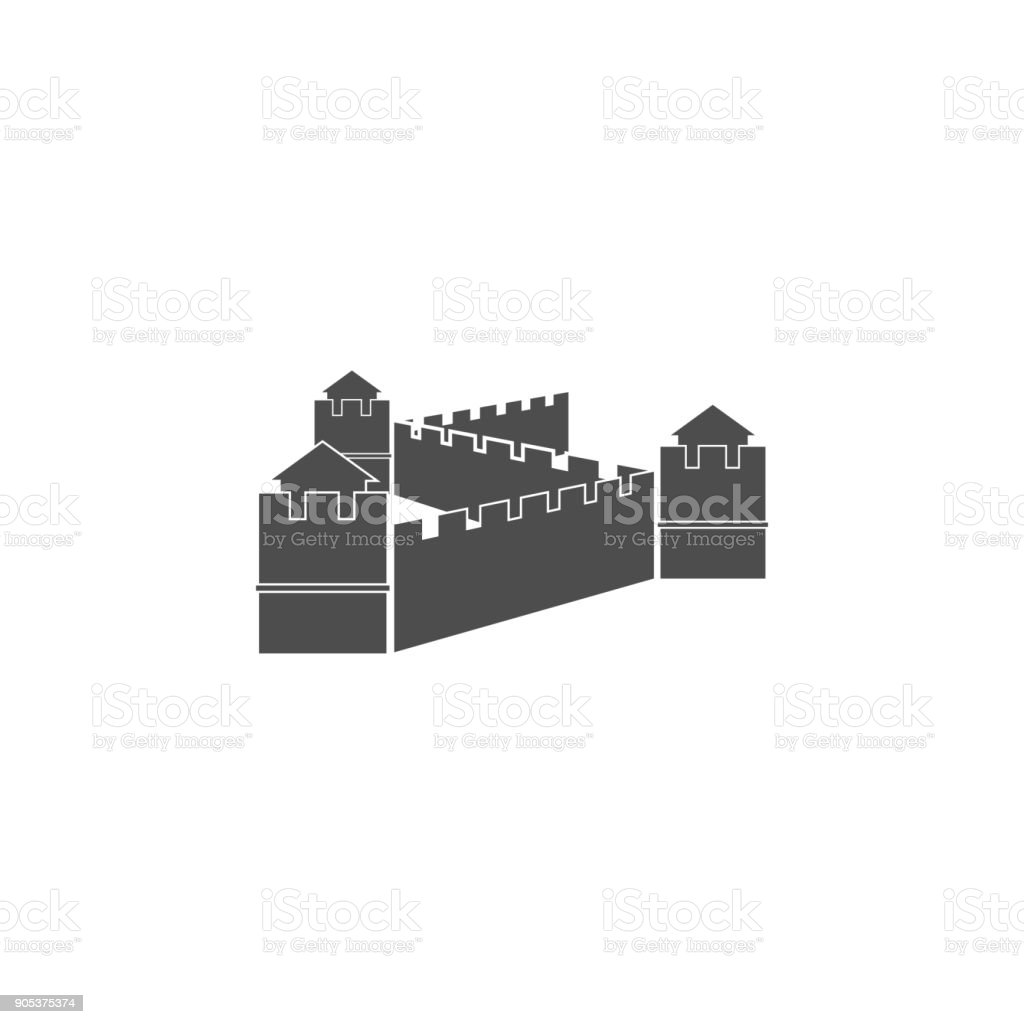 Chinese Wall Icon Elements Of Chinese Culture Icon Premium Quality