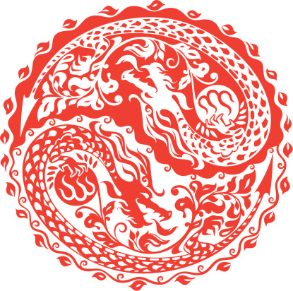 Chinese year of the dragon 2012 (red)
