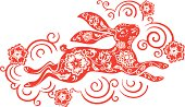 Chinese year of the rabbit 2011 (red)