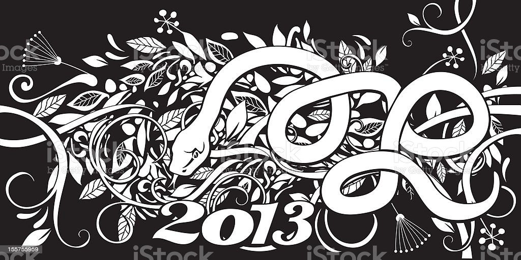 Chinese Year of the Snake royalty-free stock vector art