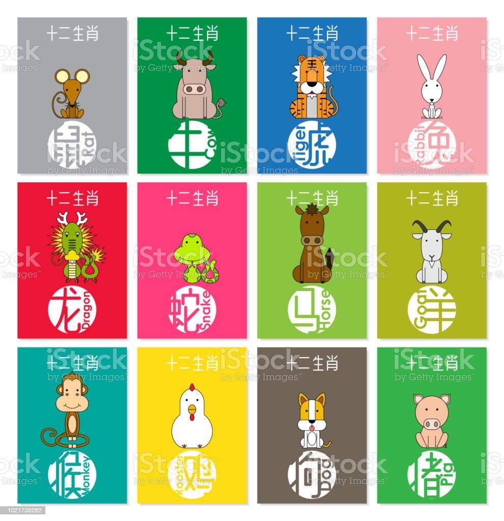 12 Chinese Zodiac Animals Chinese Wording Translation Rat