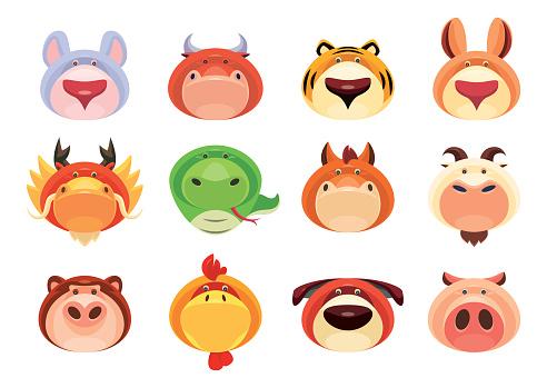 Chinese Zodiac animals icons
