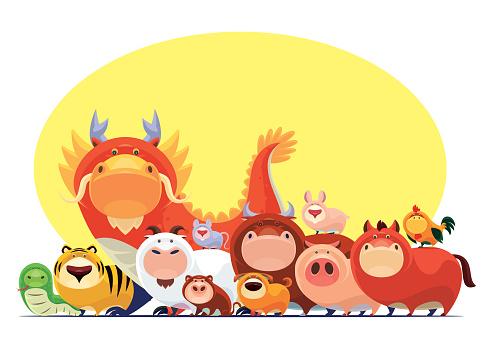 Chinese Zodiac animals meeting