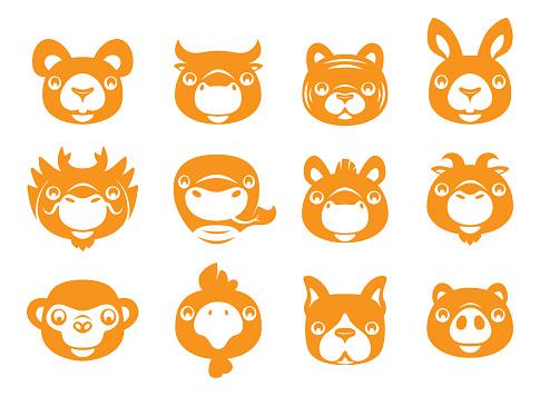Chinese Zodiac animals signs