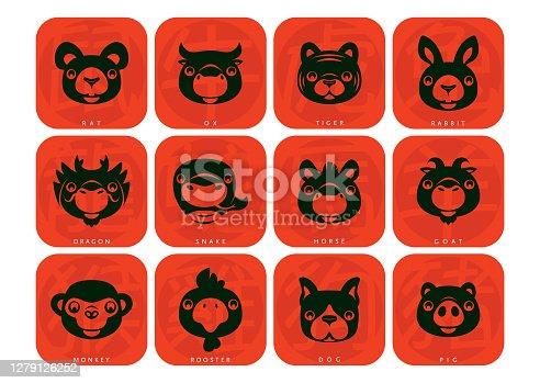 istock 12 Chinese Zodiac animals symbol 1279126252