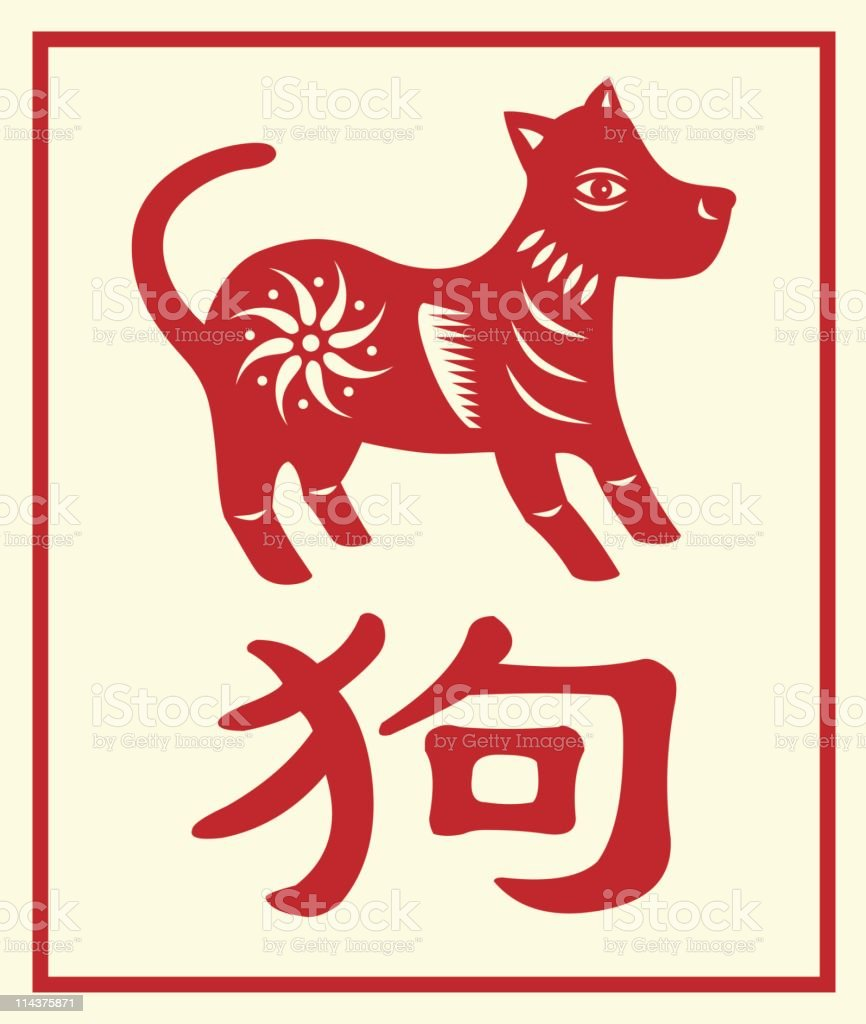 chinese zodiac dog with a character royalty free chinese zodiac dog with a character