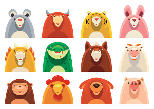 12 Chinese Zodiac icons