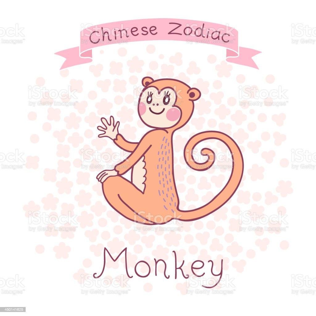 Chinese Zodiac - Monkey royalty-free stock vector art