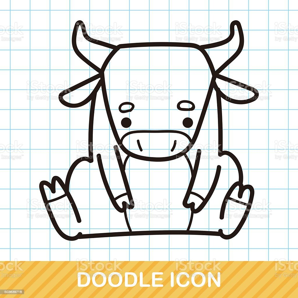 Chinese Zodiac Ox Doodle Stock Illustration - Download Image Now