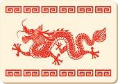 Chinese dragon pattern.