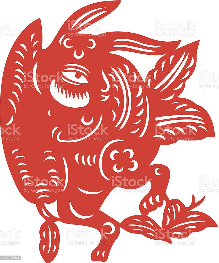 Chinese Zodiac Sign for Year of Rabbit royalty-free chinese zodiac sign for year of rabbit stock vector art & more images of animal