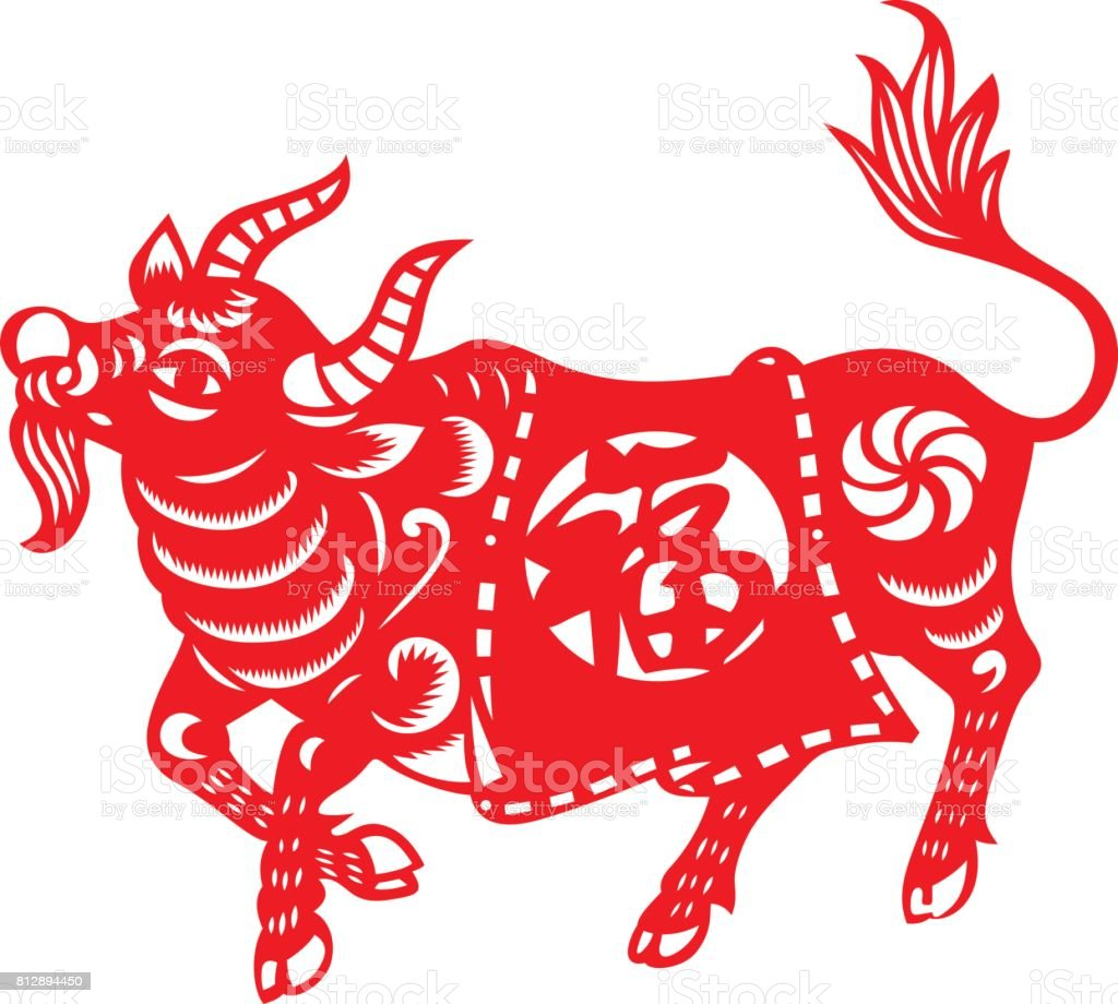 chinese zodiac sign of ox stock vector art more images of animal 812894450 istock. Black Bedroom Furniture Sets. Home Design Ideas