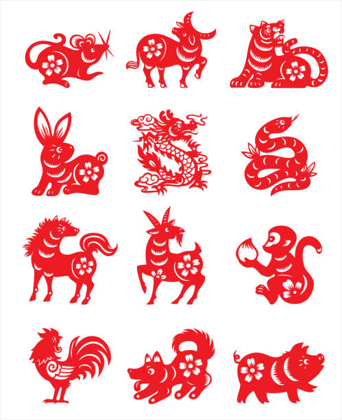 Chinese zodiac sign vector art illustration