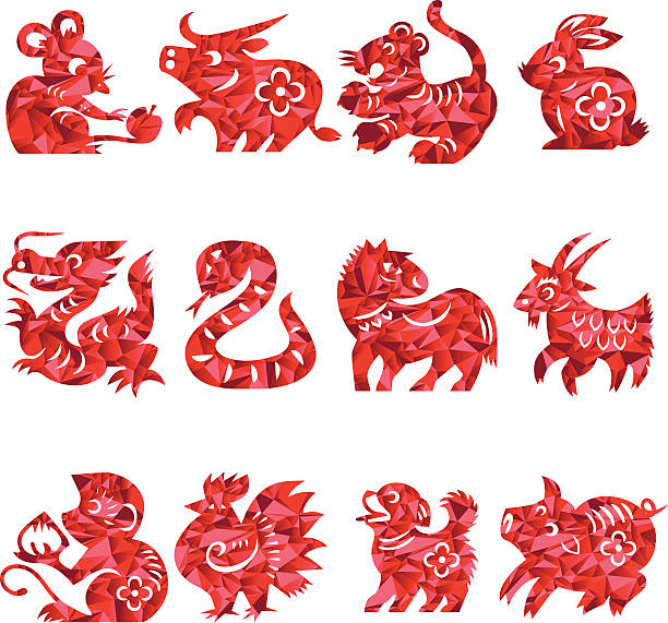 Chinese Zodiac Signs Illustrations, Royalty-Free Vector