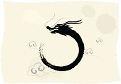 Chinese's Dragon Year of the Ink Painting, The vector illustration is my own drawing