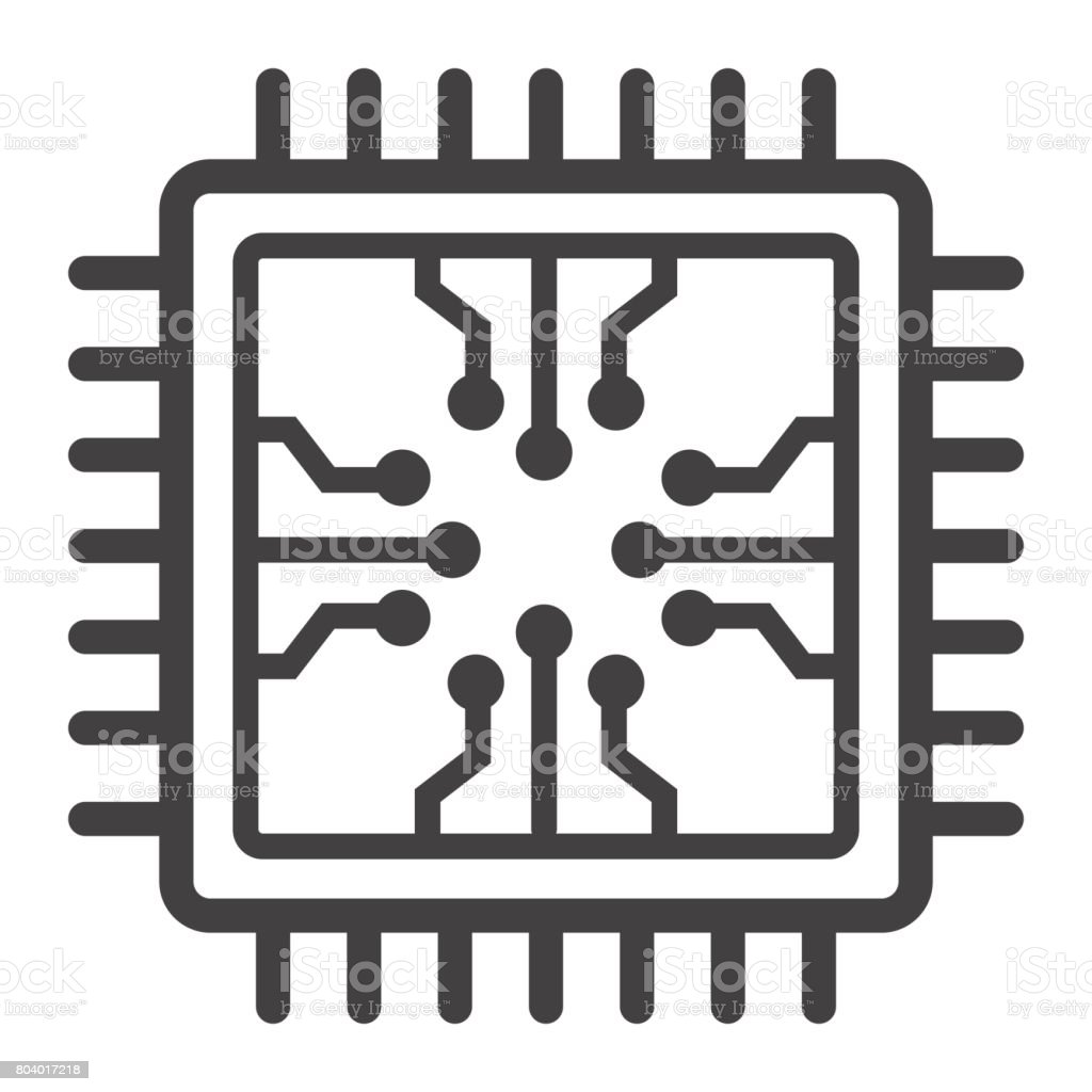 chip line icon circuit board and cpu vector graphics a linear pattern on a white background eps 10 stock illustration download image now istock chip line icon circuit board and cpu vector graphics a linear pattern on a white background eps 10 stock illustration download image now istock