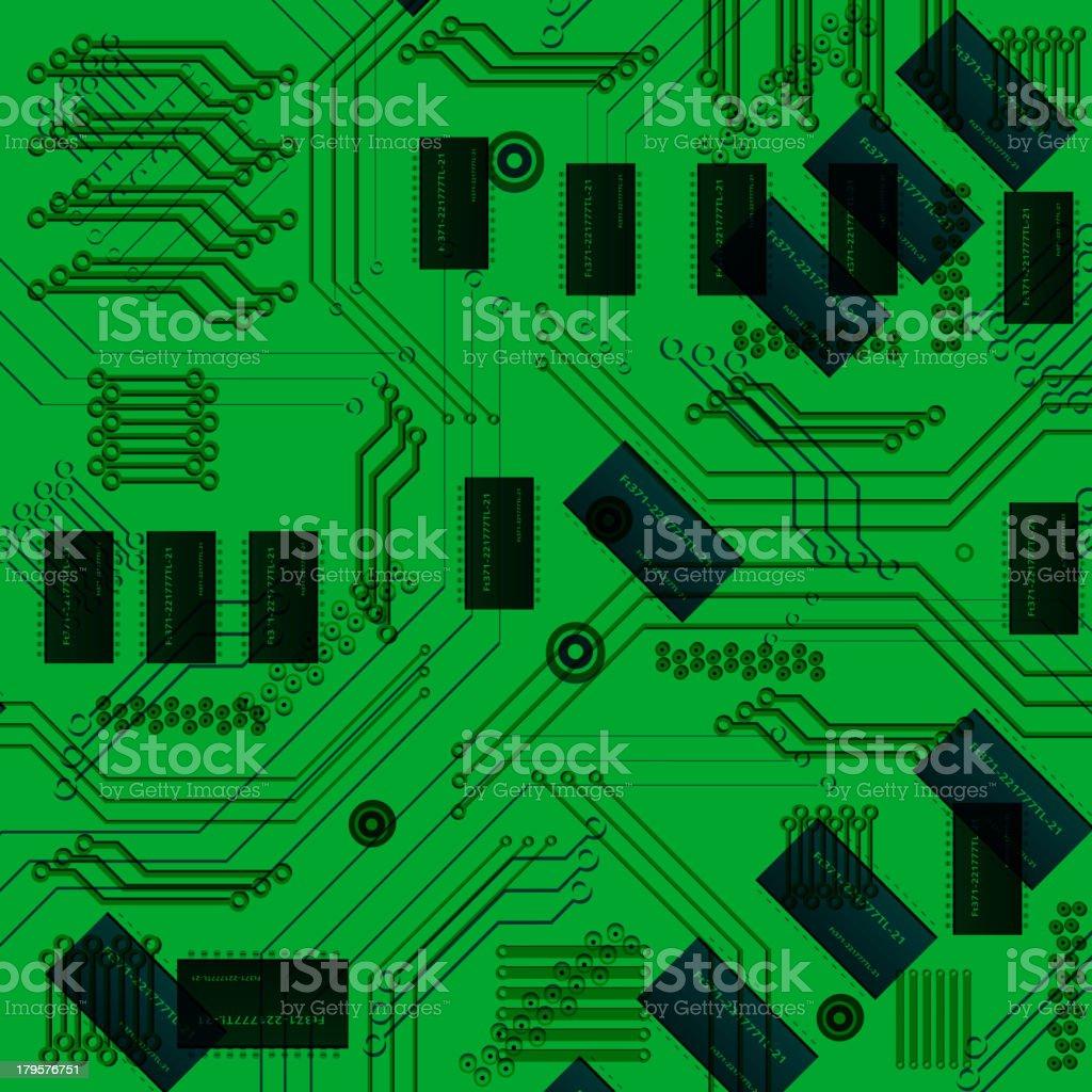 chip, microcircuit royalty-free stock vector art