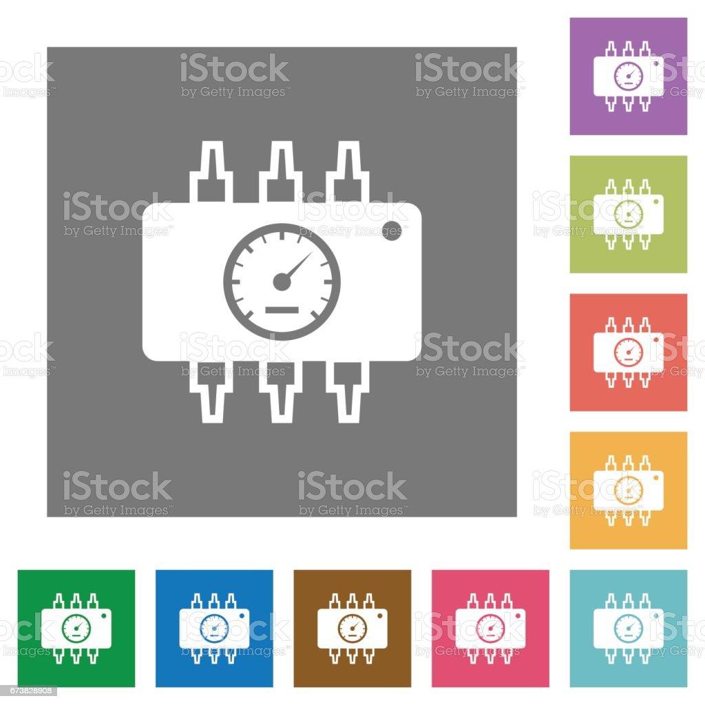 Chip tuning square flat icons chip tuning square flat icons – cliparts vectoriels et plus d'images de ajuster libre de droits