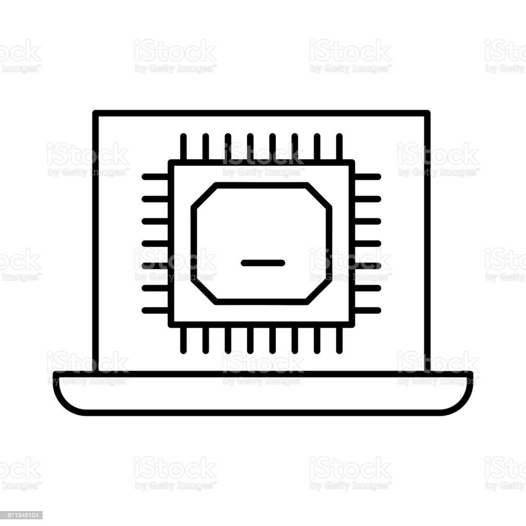 chip vector art illustration