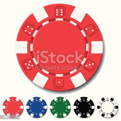 the vector illustration of poker chips