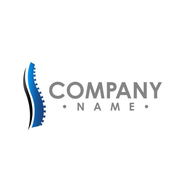 chiropraktik abstrakte vektor-logo-design-vorlage. chiropraktische medizin, healthcare design - chiropraktiker stock-grafiken, -clipart, -cartoons und -symbole