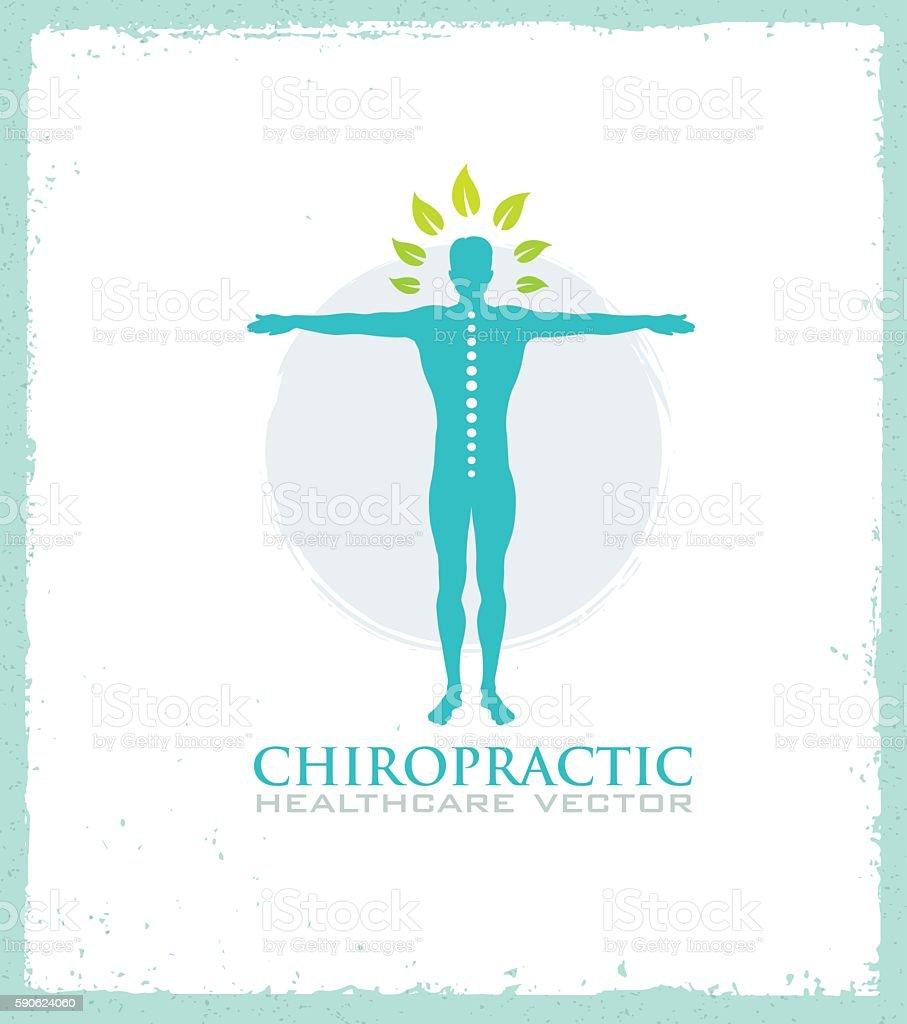 Chiropractic Healthcare Organic Natural Illustration Concept - Illustration vectorielle