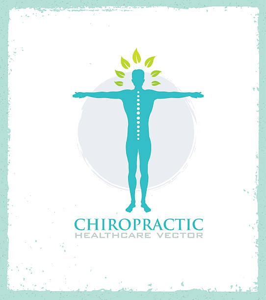 illustrations, cliparts, dessins animés et icônes de chiropractic healthcare organic natural illustration concept - chiropracteur