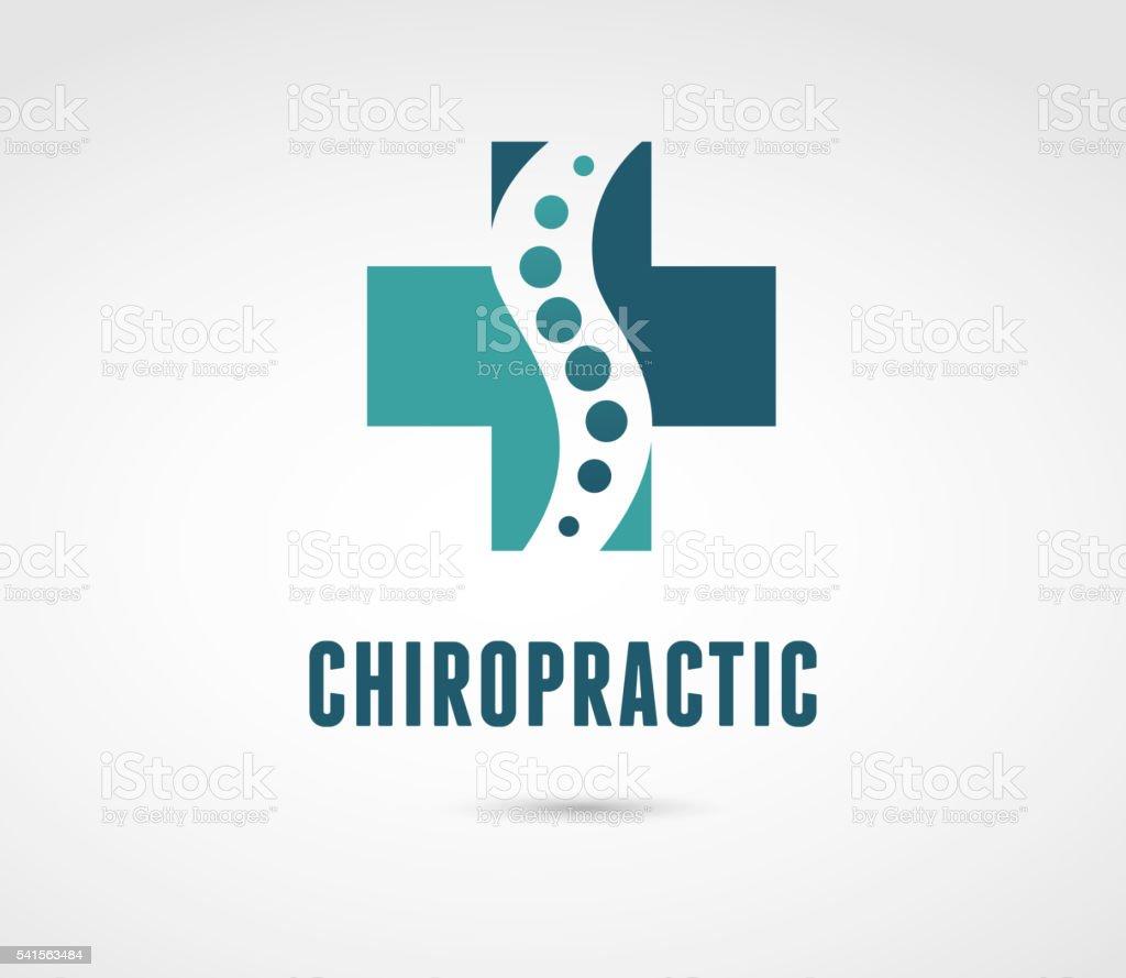 カイロプラクティック、マッサージ、背中の痛みやオステオパシーアイコン ベクターアートイラスト