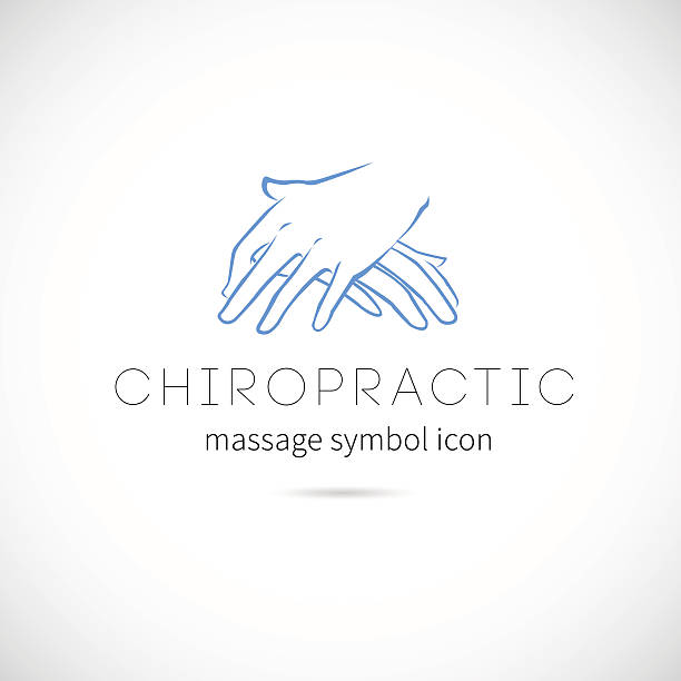 Chiropractic Massage Vector Concept Icon Symbol or Label vector art illustration