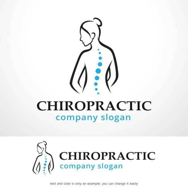 chiropraktik symbol template design vektor, emblem, designkonzept, kreativen symbol, symbol - chiropraktiker stock-grafiken, -clipart, -cartoons und -symbole