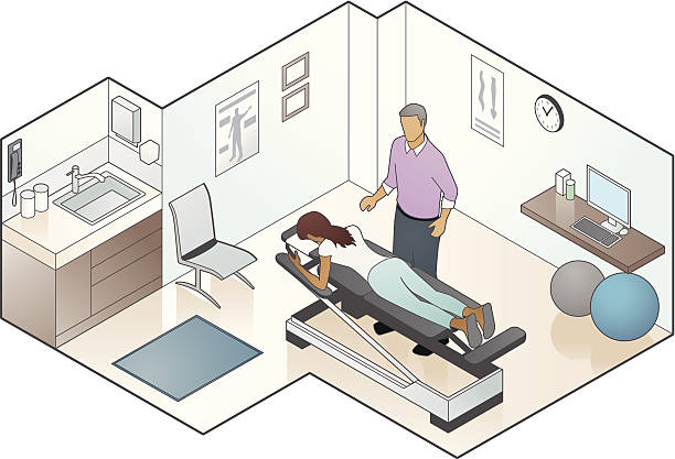 chiropraktiker illustrationen - chiropraktiker stock-grafiken, -clipart, -cartoons und -symbole
