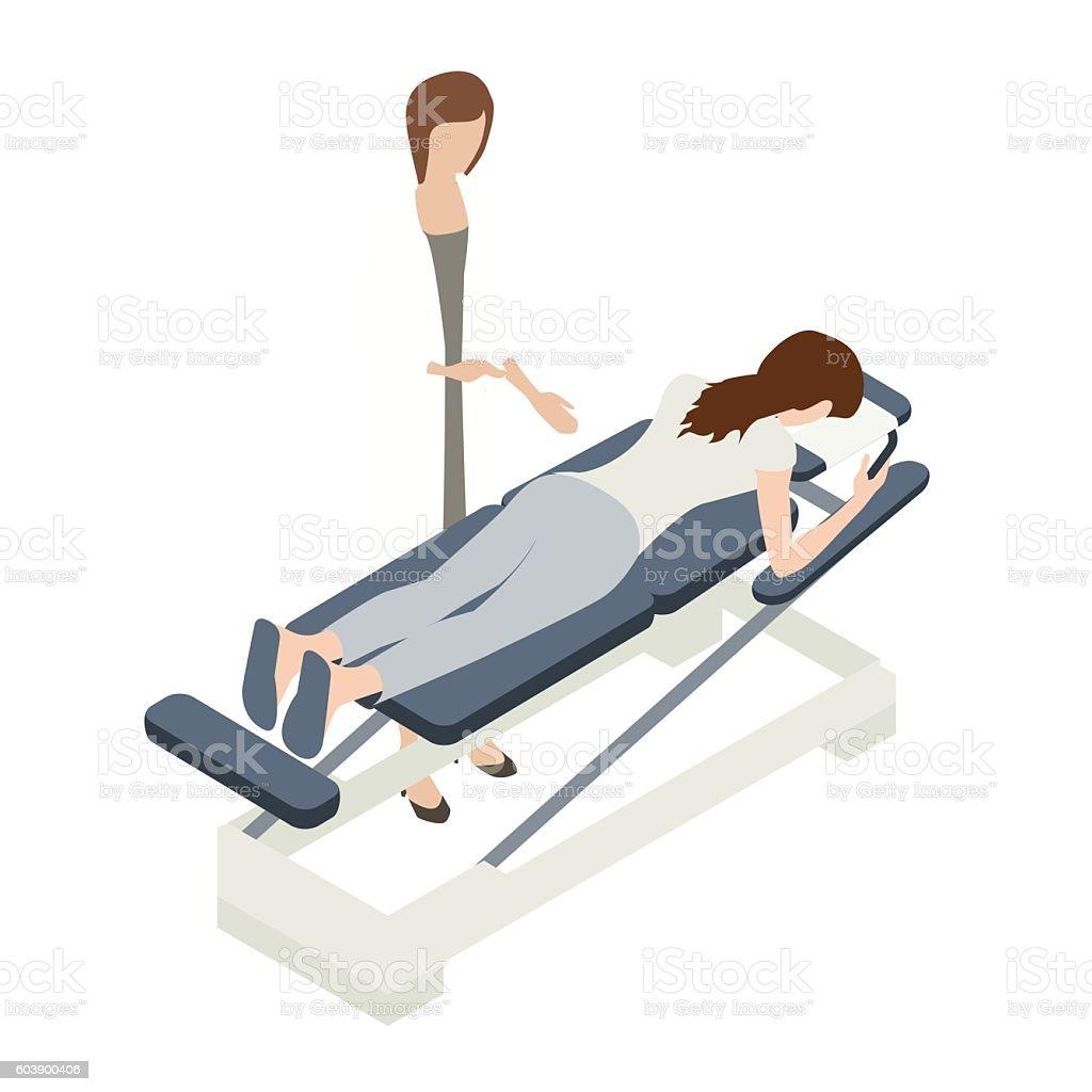 Chiropractor illustration ベクターアートイラスト