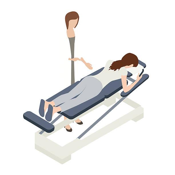 chiropractor illustration - chiropraktiker stock-grafiken, -clipart, -cartoons und -symbole