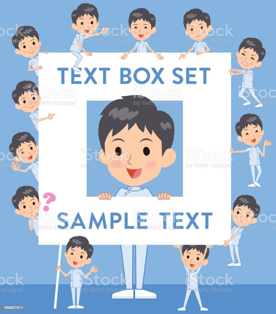 chiropractor man text box royalty-free chiropractor man text box stock vector art & more images of adult