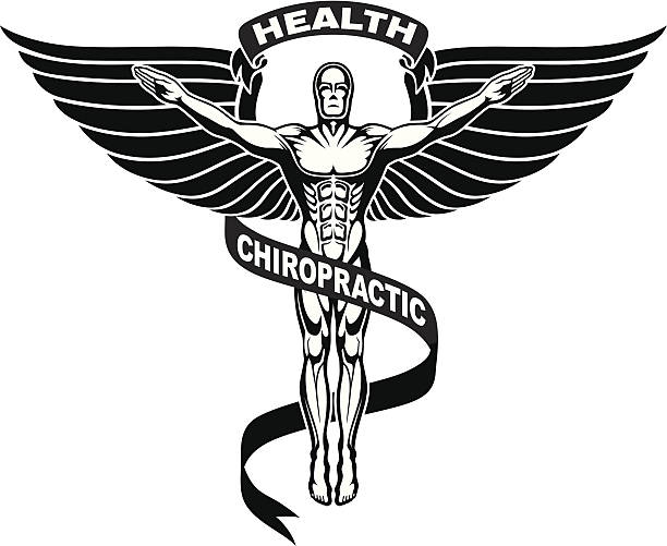 Chiropractor Symbol or Icon vector art illustration