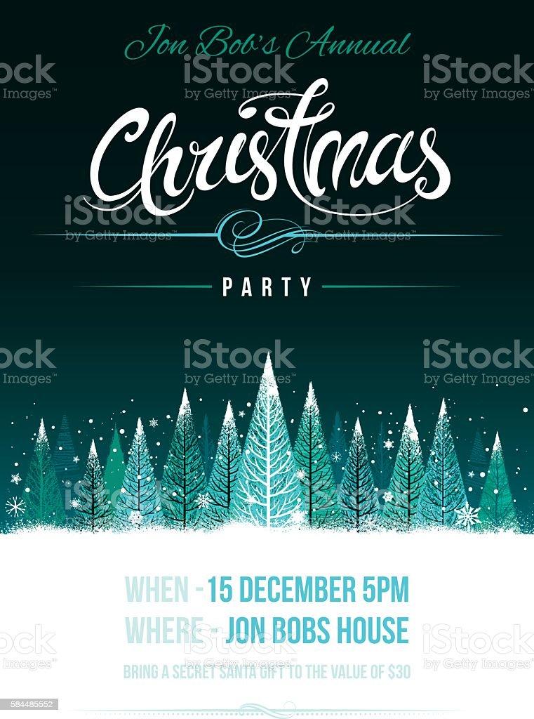 Chirstmas party invitation vector art illustration