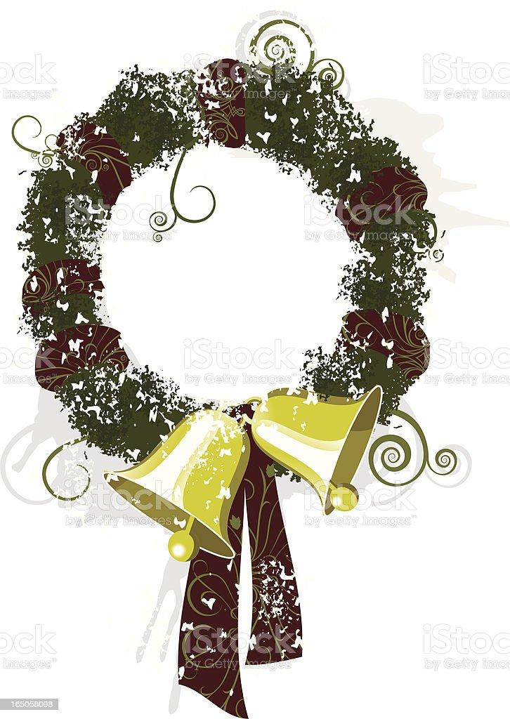 Chirstmas wreath royalty-free stock vector art