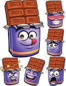 Cartoon chocolate bar set including: