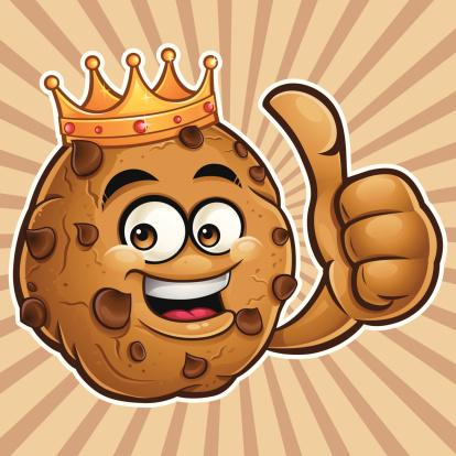Choco Chip Cookie Cartoon - Thumbs Up