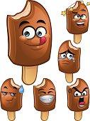 Choco Popsicle Cartoon Set A