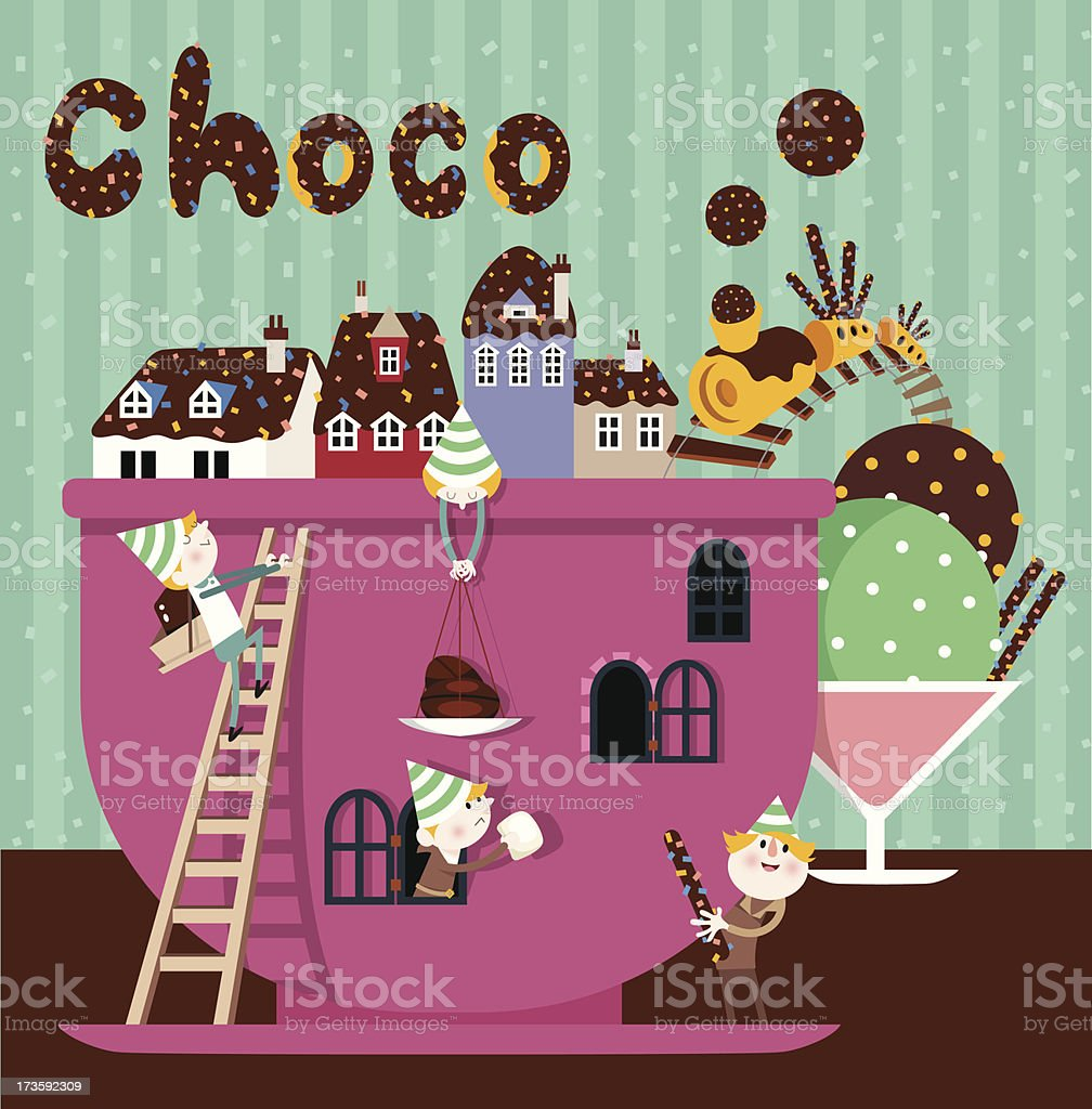 Choco Town royalty-free choco town stock vector art & more images of baby