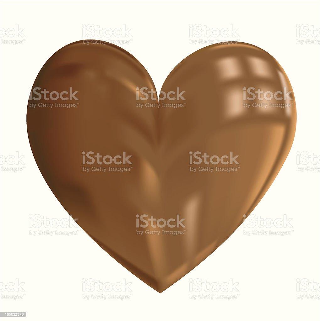 Chocoheart royalty-free stock vector art