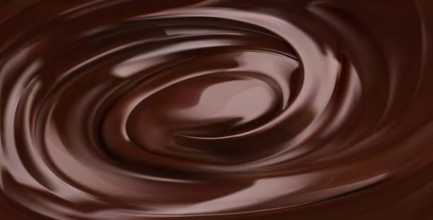 schokoladenhintergrund, 3d-realistischer vektor - schokolade stock-grafiken, -clipart, -cartoons und -symbole