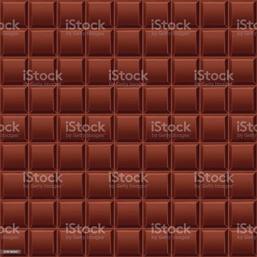 Chocolate background vector art illustration
