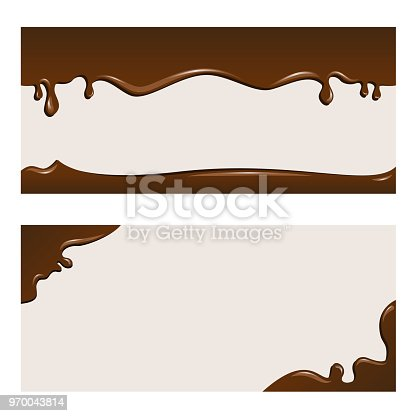 Two patterns of chocolate background.